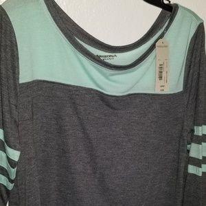AZ Jeans Co Grey & Mint Tunic Shirt